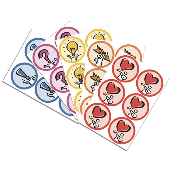 Набор фан-стикеров (5 видов х 6шт. на листе) для модератора