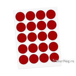 Метки для голосования в листах Красные