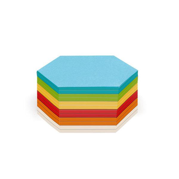 Карты клейкие модерационные Neuland Шестиугольные для проведения опен спейс