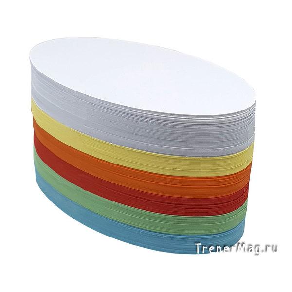 Модерационные карты Овальные 11*19 см (разноцветные) для фасилитаторов