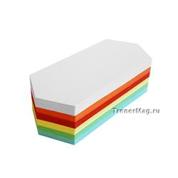 Модерационные карты Ромбовидные 9,5х20,5см (разноцветные)