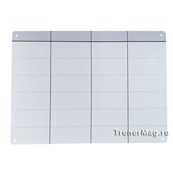 Белая безрамочная магнитно-маркерная Скрам доска