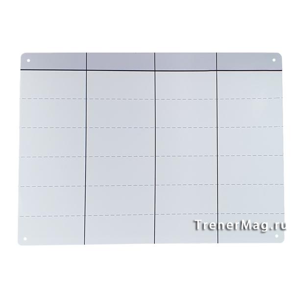 Белая безрамочная маркерная Скрам доска для работы учителя