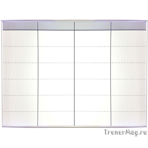 Белая маркерная Scrum доска с тонкой рамкой для работы ведущего
