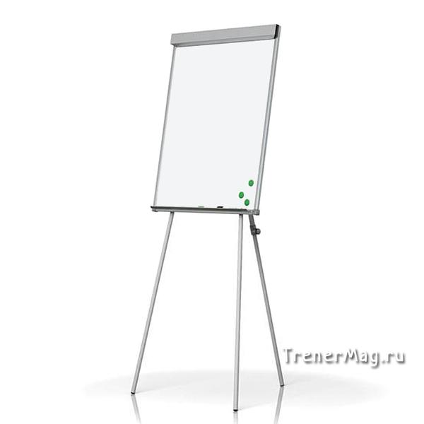 Флипчарт на треноге магнитно-маркерный (100х70см) для рабочих встреч и командных сессий