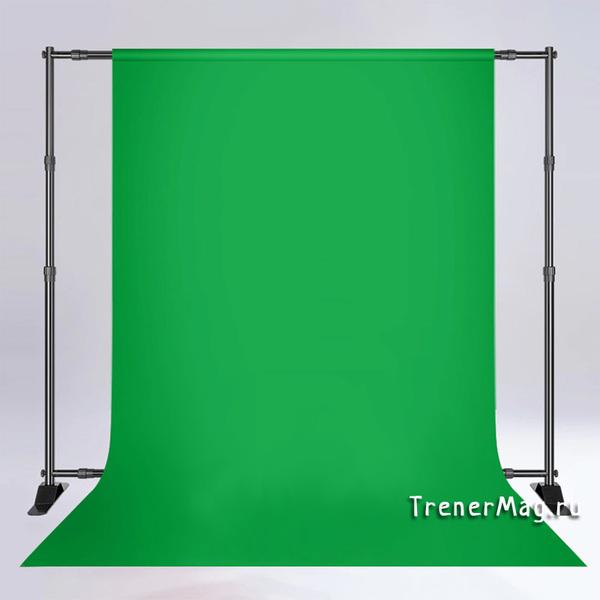Зеленый экран для фона (Хромакей) для