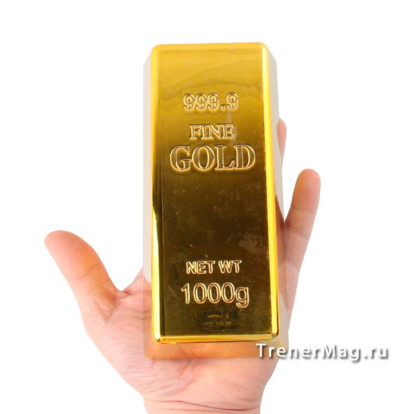 применение Золотой слиток для игры на выставках