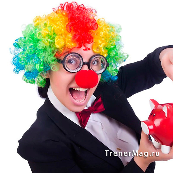 Игровой аксессуар Клоунский нос для бизнес завтрака