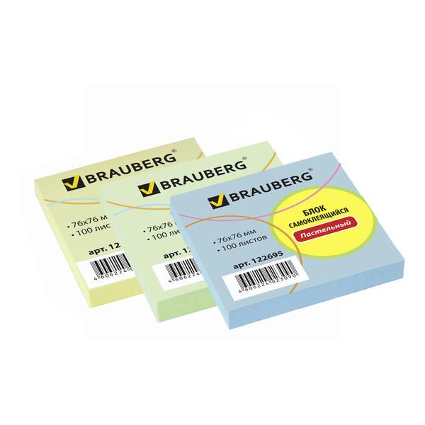 использование Стикеры Brauberg клейкие 76х76 мм, постельные цвета, 100л. для работы на рабочих группах