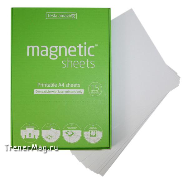 Листы Magnetic SHEETS электростатические (А4, белые) для написания текста при проведении open space или развивающей сессии