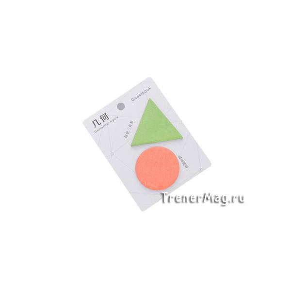применение Фигурные стикеры GEOMETRIC (Круг и Треугольник, 40л.) для работы для уроков