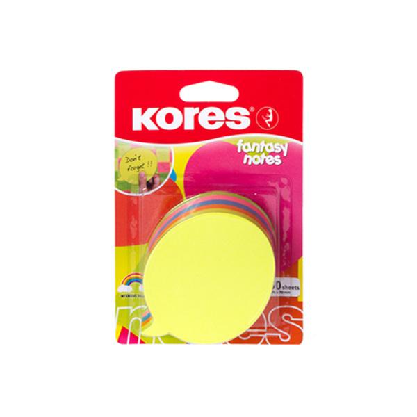 использование Листки фигурные Kores Диалог (70х70 мм, 250л., 5цв., круглый) в модерации