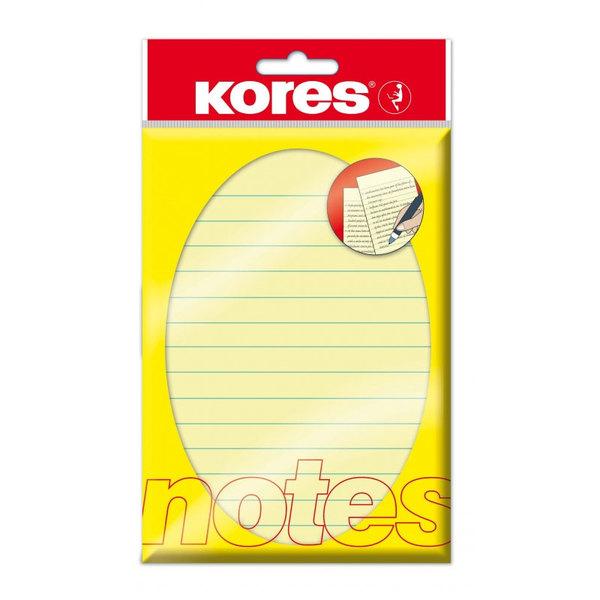 Блок в линию Kores (100х150мм, 100л, желтый, пастель) для работы менеджера по обучению