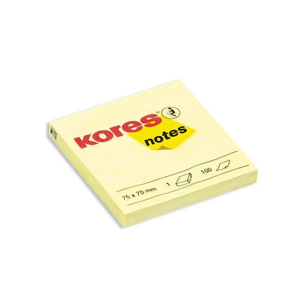 Kores блок клеящийся (75х75мм, 100л, желтый, пастель) для менеджера по обучению
