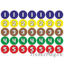 "Наклейки ""Цифры 1-5"" (25мм, 35шт. на листе)"