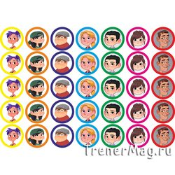 Наклейки Faces для команд (25мм, 35шт. на листе)