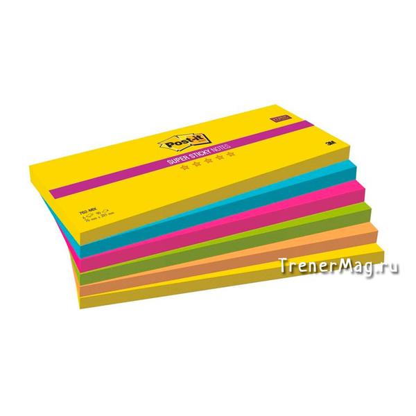 Длинные стикеры Post-it (76x205 мм, 90л.) для работы скрам-мастера