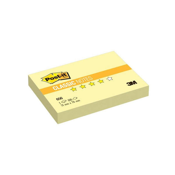 Post-it стикеры 51x76 мм, желтые пастельные, 100 листов для фасилитации