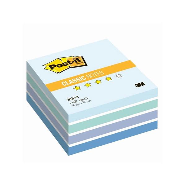 Post-it стикеры 76х76 мм, пастельные голубые, 450 листов для форсайта