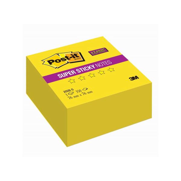 Post-it стикеры 76х76 мм, неоновые желтые, 350 листов для стратегической сессии