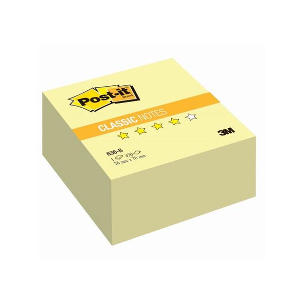 Post-it стикеры 76х76 мм, желтые классические, 450 листов для стратсессии