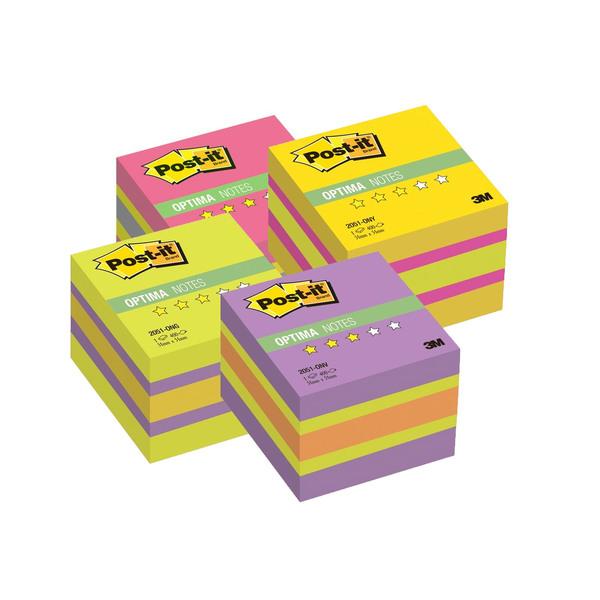 Post-it блок 51х51 мм, Времена года, 3 неоновых цвета, 400 л. для модерации