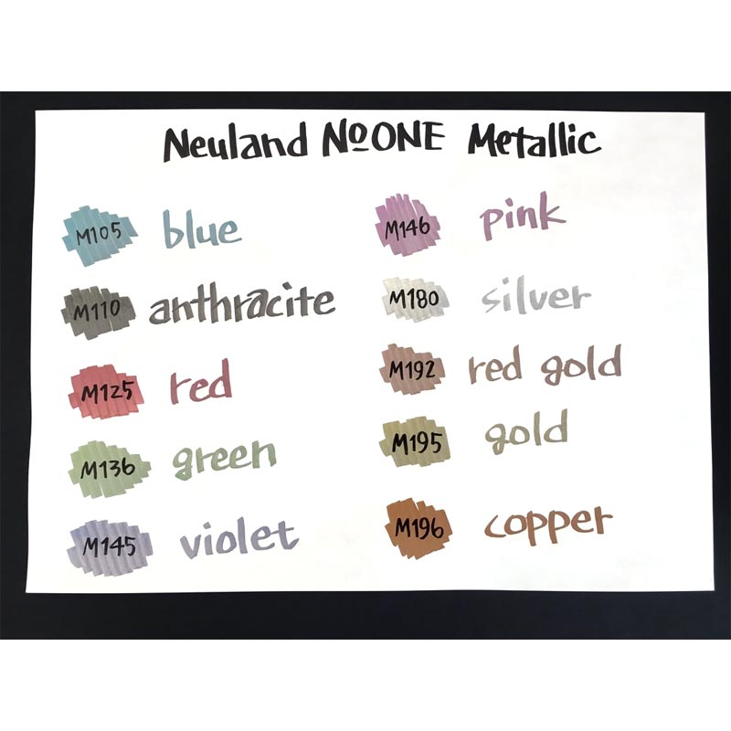 маркеры металлик neuland