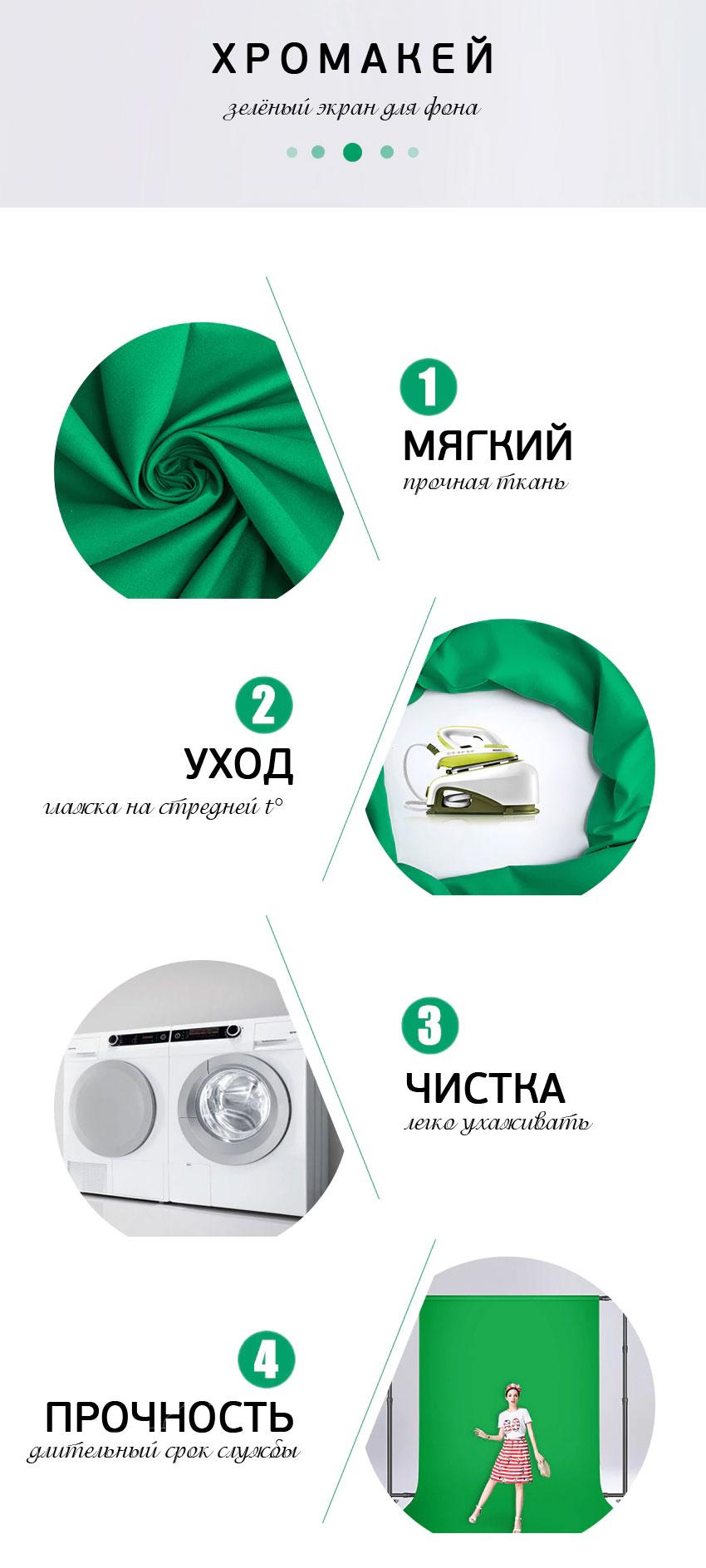 профессиональный зеленый экран для создания фона при проведении диджитал обучения