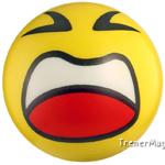 мяч детский эмоджи желтый для модератора