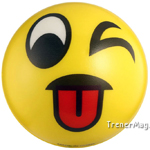 мяч детский эмоджи желтый для преподавателя