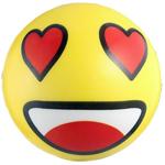мяч детский эмоджи желтый для обучения