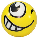 мяч детский эмоджи желтый для фасилитации